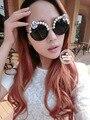 2017 Óculos De Sol Das Mulheres Flor com Pérola óculos de sol das mulheres óculos de sol Estilo do Verão das senhoras Do Vintage óculos de Sol UV400 óculos de Praia