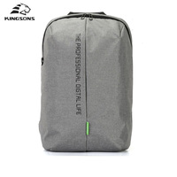 KINGSONS Laptop Backpack 15 6 Inch High Quality Waterproof Nylon Bags Casual Sport Business Dayback Men