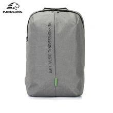 Kingsons Laptop Rucksack 15,6 Zoll Hohe Qualität Wasserdichtem Nylon Taschen Business Dayback Männer und frauen Rucksack