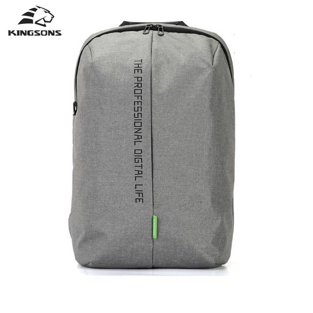 Kingsons Mochila Laptop 15.6 Polegada Dayback Sacos de Nylon de Alta Qualidade À Prova D' Água de Negócios Dos Homens e das Mulheres Mochila
