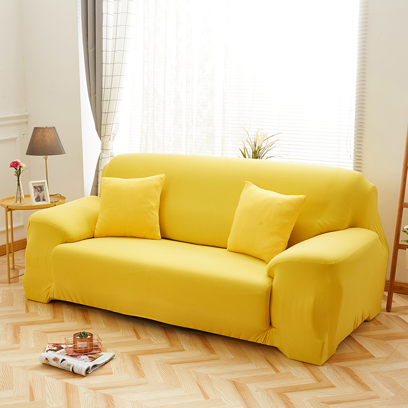 Love Seat Yellow Arm Sofa Cover For Living Room Slipcover