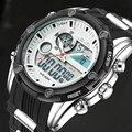 Top Luxury Brand Men Sports Relojes hombres de Cuarzo Analógico Digital LED Reloj Hombre Deportes de La Moda Militar Del Ejército Del Reloj Kol Saati