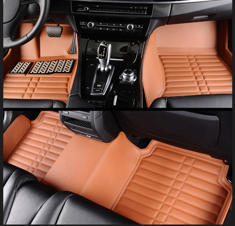 Full Covered Waterproof Carpets Durable Special Car Floor Mats For Renault Duster Fluenc ...