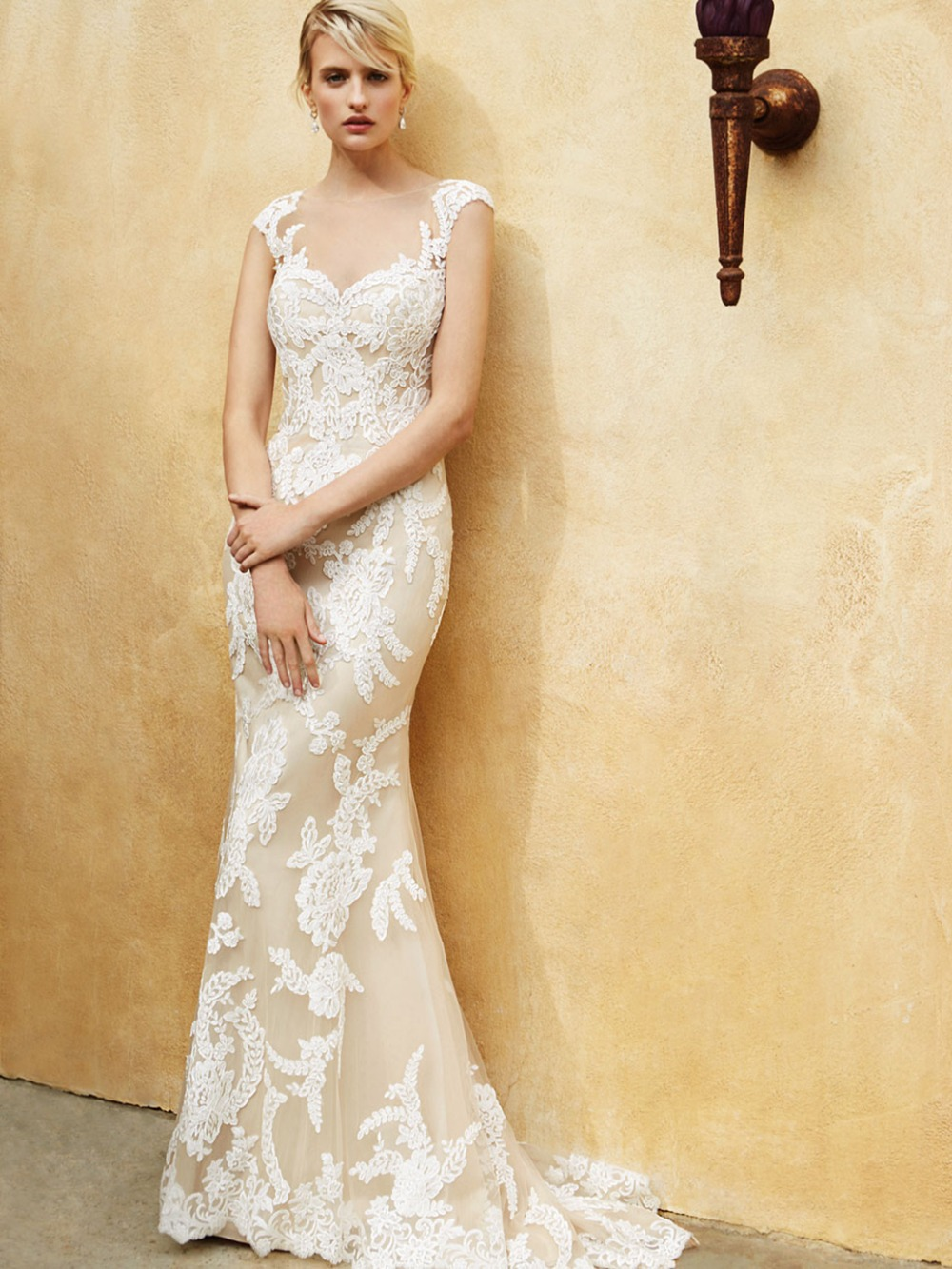 White dress design 2017 - Aliexpress Com Buy Ew409 Fashionable Scoop Cap Sleeves Mermaid Wedding Dress 2017 Lace Bridal Gown Sexy Design White Dress For Wedding Party From Reliable