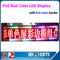 2015 New arrivals scrolling text led display boards with full color border p10 led board 65*209cm business advertising sign