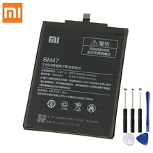 Original Replacement Battery BM47 For Xiaomi Redmi 3 3S 3X Redmi3 Pro Hongmi 4X Note Redrice 3x Authentic 4000mAh