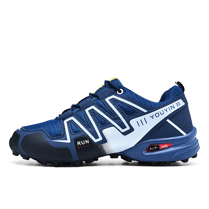 Outdoor Men big Size Hiking Shoes Waterproof Boots Walking Sneakers Mountain Athletic Breathable Wear Hunting Boots Size 39 48