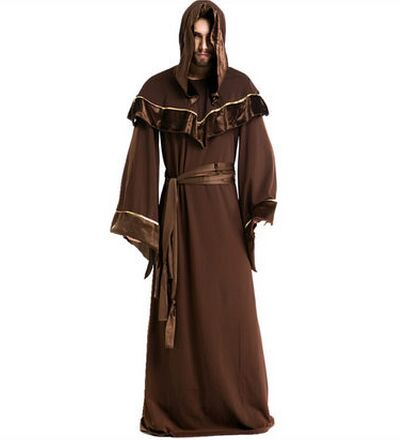 Monks cosplay witch costumes for men church clothes church christian scary devil costume halloween costumes for men