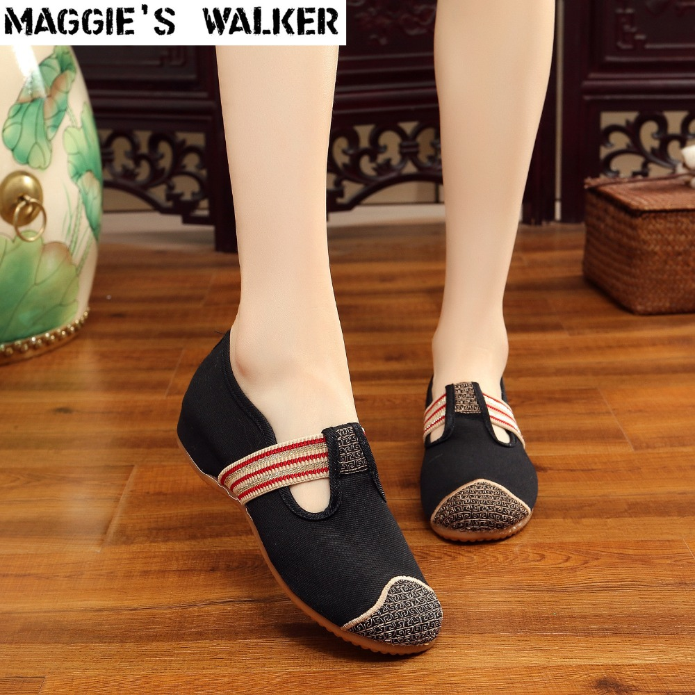 Maggie's Walker New Arrival Folk Style Women Fashion Cotton Casual Shoes Slip-on Traditional Flat Shoes Special Size 35~40 2017 free shipping new arrival traditional tavas women colors casual shoes breathable max size 36 42 black white superstar