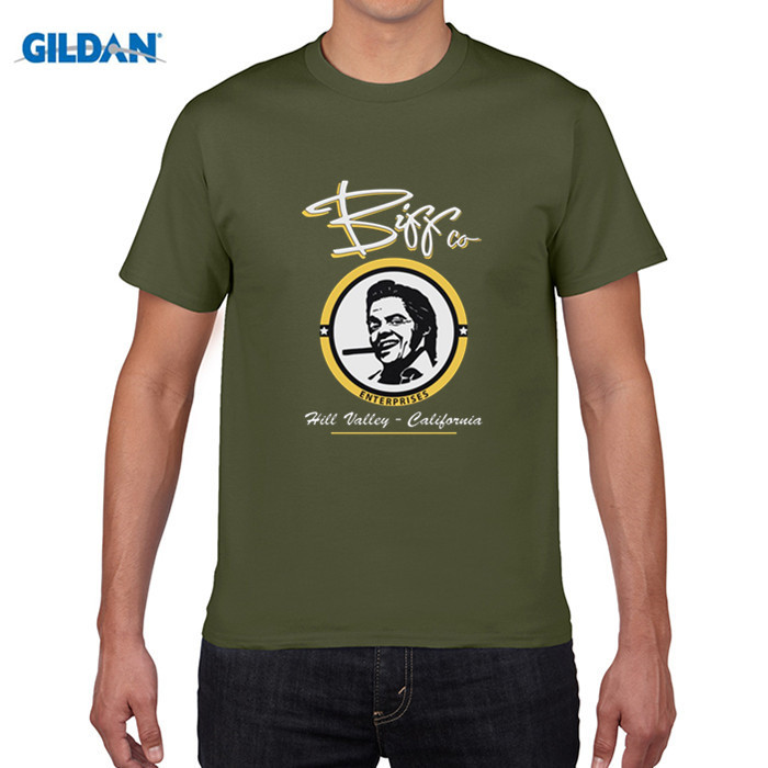 GILDAN pure cotton round collar T-shirt Science fiction movie Back to the future Subject T-shirt Round collar Mens T-shirt