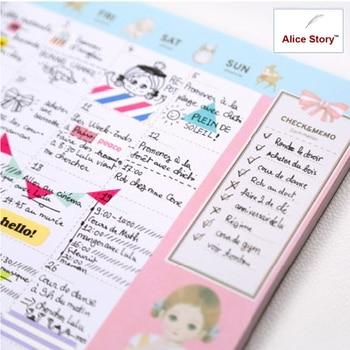 Nette Kawaii Puppe muster schreibtisch notizblock zeitplan desktop ...