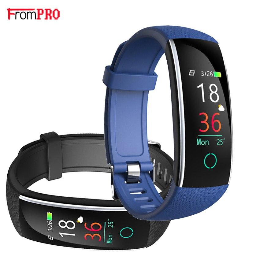 FROMP Band 4 Smart Armband 50 mt Wasserdichte Fitness Tracker Touch Heart Rate Monitor Display Anruf Nachricht für Huawei ehre