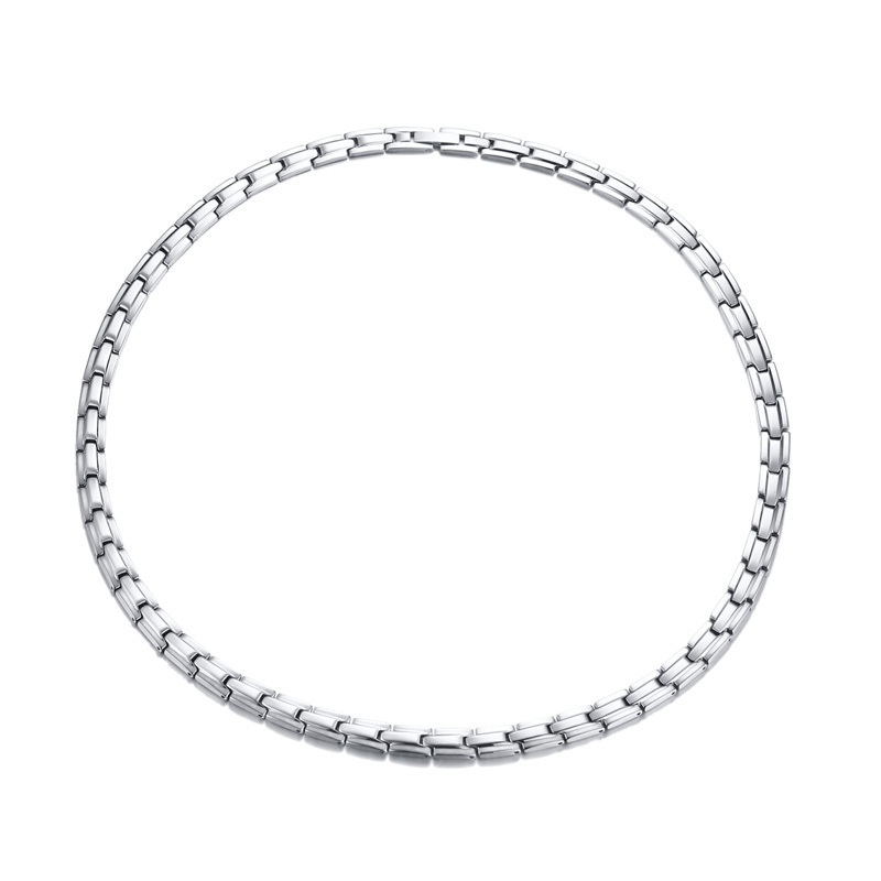 купить Women's Stainless Steel Magnetic Therapy Necklace in Silverly Pain Relief for Neck Arthritis Migraine Headaches Shoulders 20in по цене 2265.68 рублей