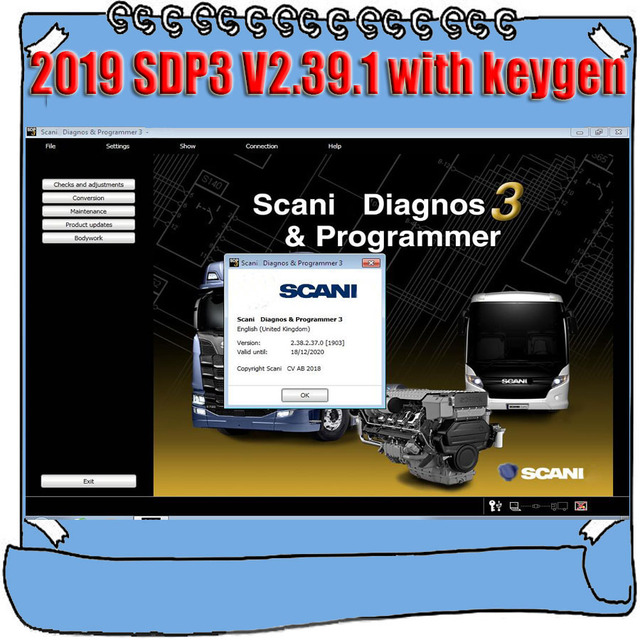 2019 Newest VCI3 Actived SDP3 V2.39.1 V2.38.2 for Scania Truck Bus Diagnos & Programmer Diagnostic Software with Install Video