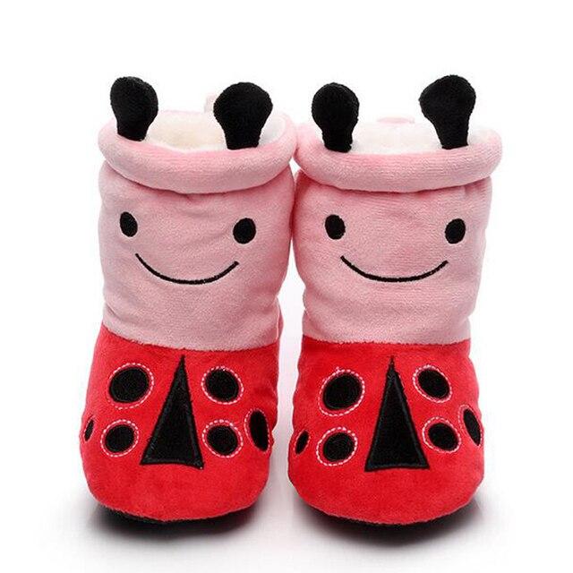 Осень 0-12 месяц высокой помощь обувь малыша детская обувь мягкие детские девочки мальчики зимняя обувь Мультфильм анимация FW-026