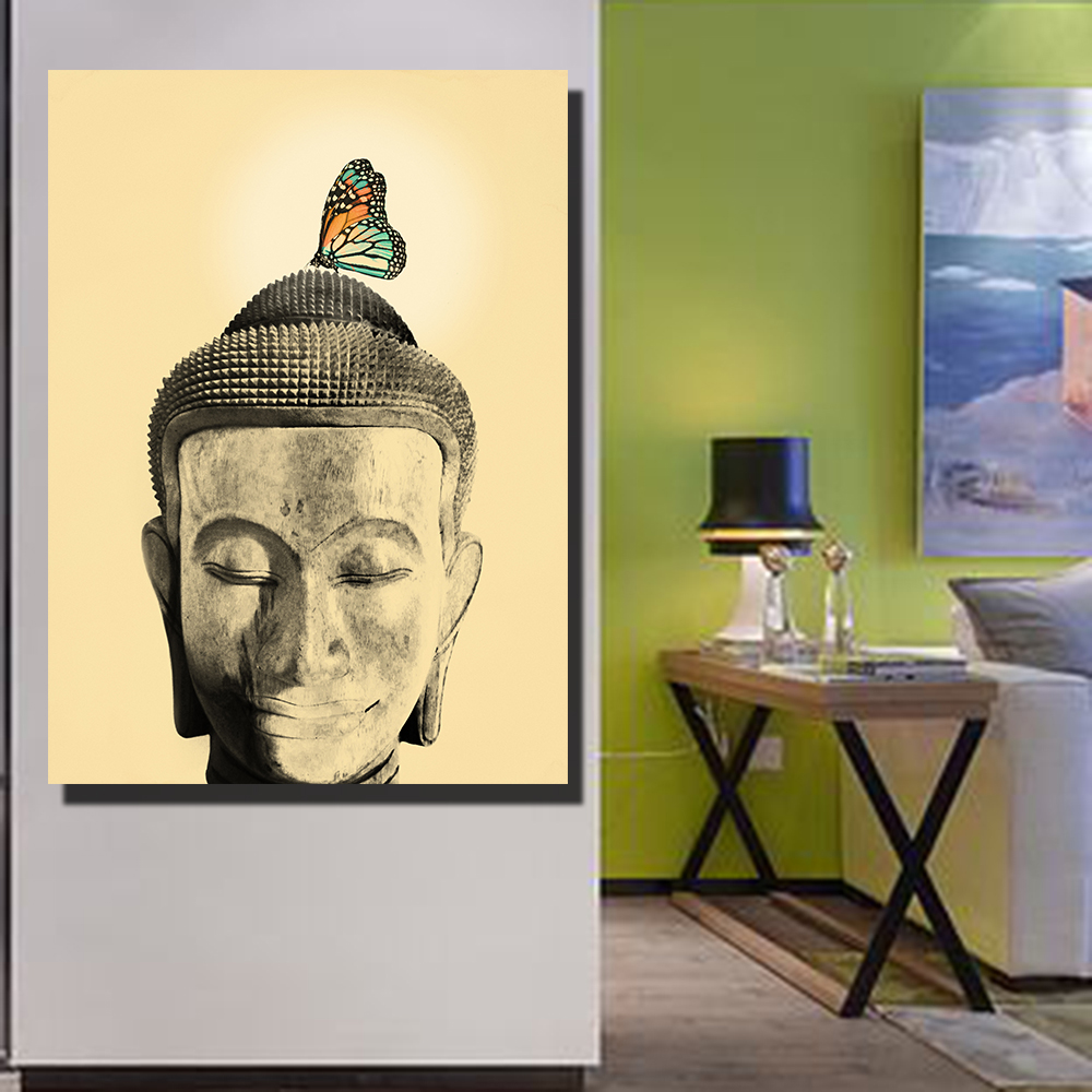 Outstanding Buddha Face Wall Art Model - The Wall Art Decorations ...