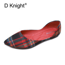 2019 Fashion Autumn Women Shallow Ballet Flats Comfortable Slip On Woman Casual Shoes Plaid Print Office Lady Work Loafers Shoes spring autumn women ballet flats shoes for woman casual loafers single shoes lady soft work draving footwear zapatos mujer