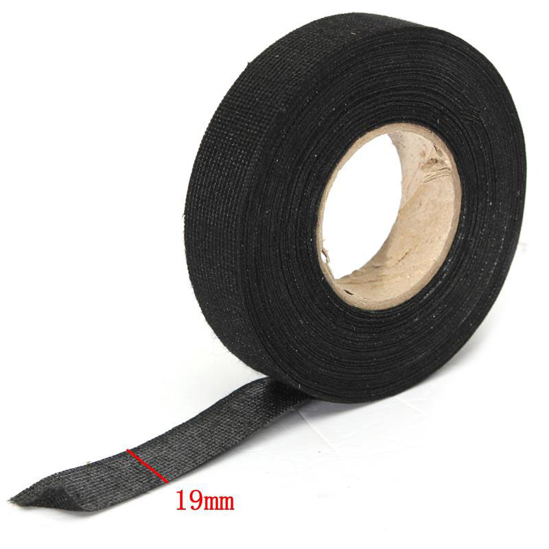 Black 32mm*12m Adhesive Cloth Fabric Tape Cable Looms Wiring Harness NM