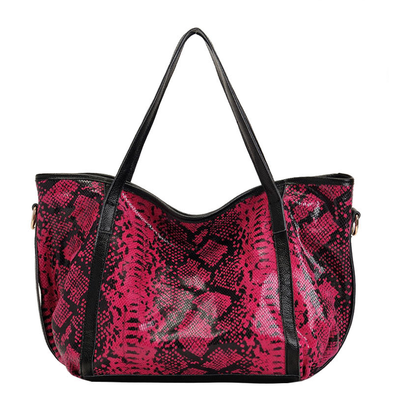 New Wild Women COW leather handbag cowhide leather Leopard Python pattern shoulder bag large capacity European style tote new serpentine pattern cow leather women s bag handbag european