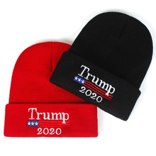 dff387b7c74 2020 Donald Trump Red Beanies Skullies Hat Re-Election Keep America Great  Embroidery USA Flag