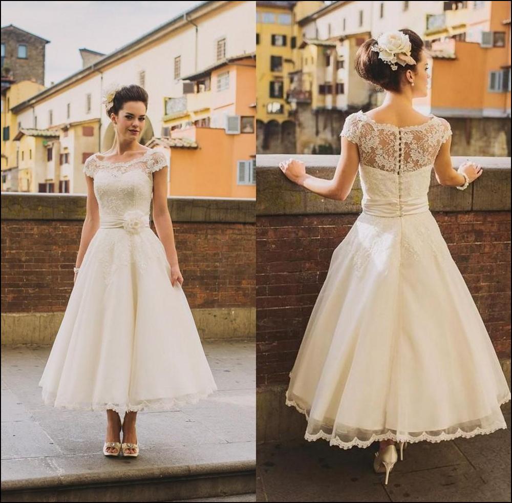 Arabic Short Wedding Dresses Tea Length Boho Wedding Dress Hippies ...