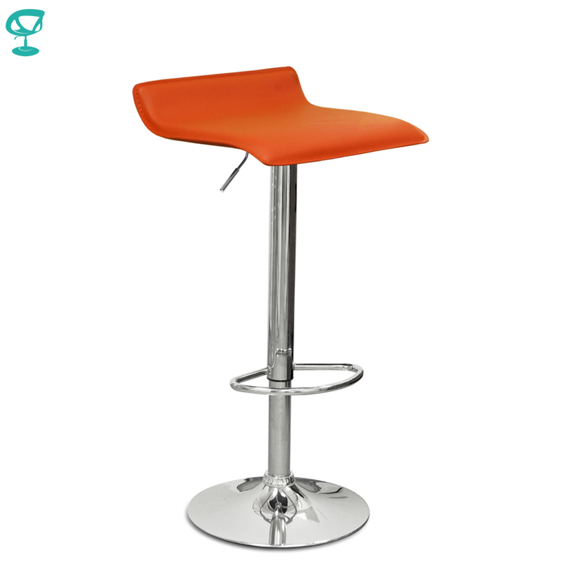 94526 Barneo N-38 Leather Kitchen Breakfast Bar Stool Swivel Bar Chair Orange Free Shipping In Russia