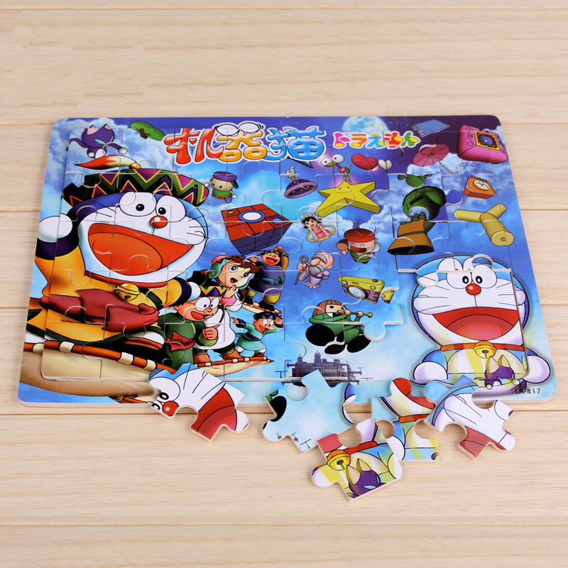 Free Shipping Wooden 40 Pieces Puzzle Cartoon Baby