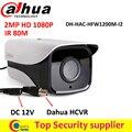 """HAC-HFW1200M-I2 DAHUA HDCVI 1080 P Câmera Da Bala IR 80 M IP67 1/2. 7 """"2 Megapixel CMOS câmera de segurança"""