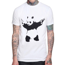 Panda T Shirt Man Design Funny Love Creative Printed Men T-shirt Casual Basic 100% Cotton Tops Hipster Tee Mens Shirts
