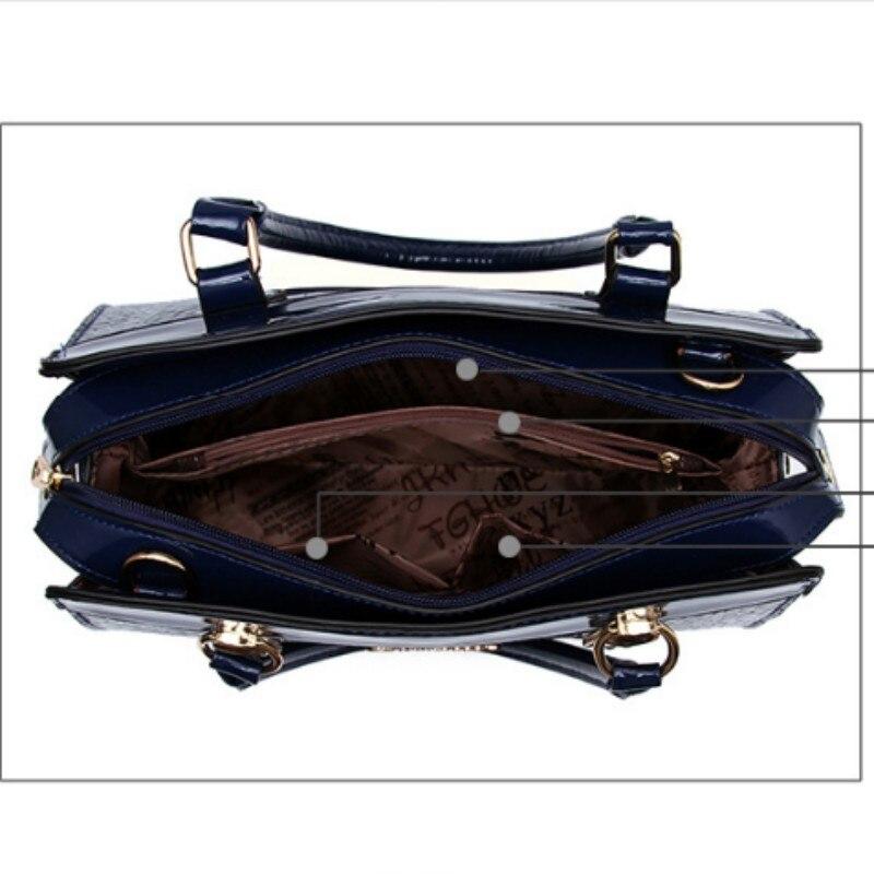 SNBS 100% Genuine leather Women handbags 2017 New high-end European and American style stone pattern shoulder handbag atmosphere