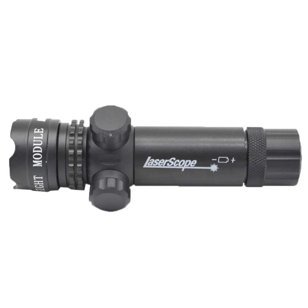 """טקטי 5 mw אדום לייזר Sight רובה היקף Riflescope Designator 20 מ""""מ הר זנב מתג לציד"""