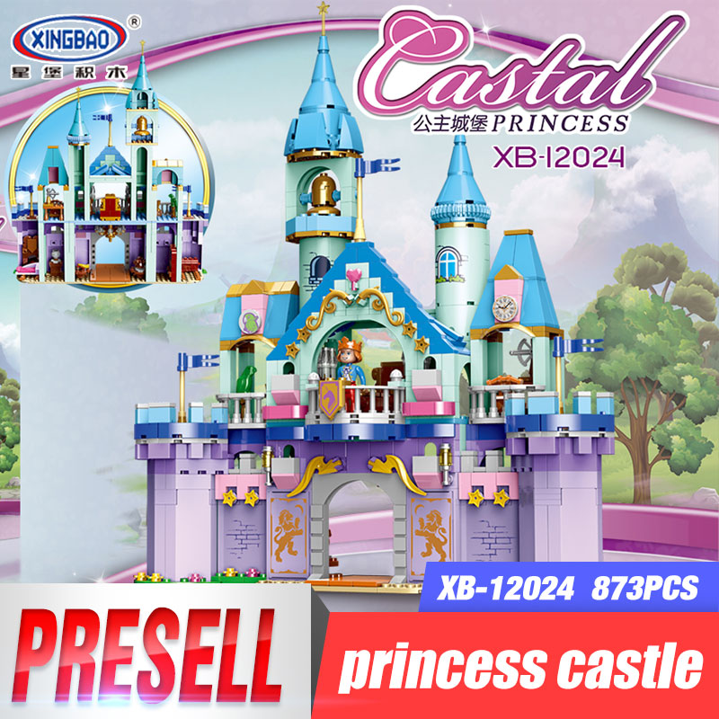 XINGBAO 12024 New Toys City Girls Series The Prince Castle Set Building Blocks Bricks New Funny Girl Kids Toys Christmas Gifts