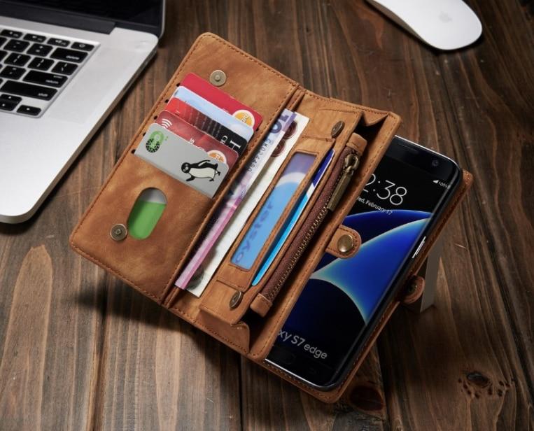 bilder für Luxus flip echtes leder case für samsung galaxy s8 plus s8 case brieftasche handytasche fundas abdeckung leder case s7 rand s7 Coque