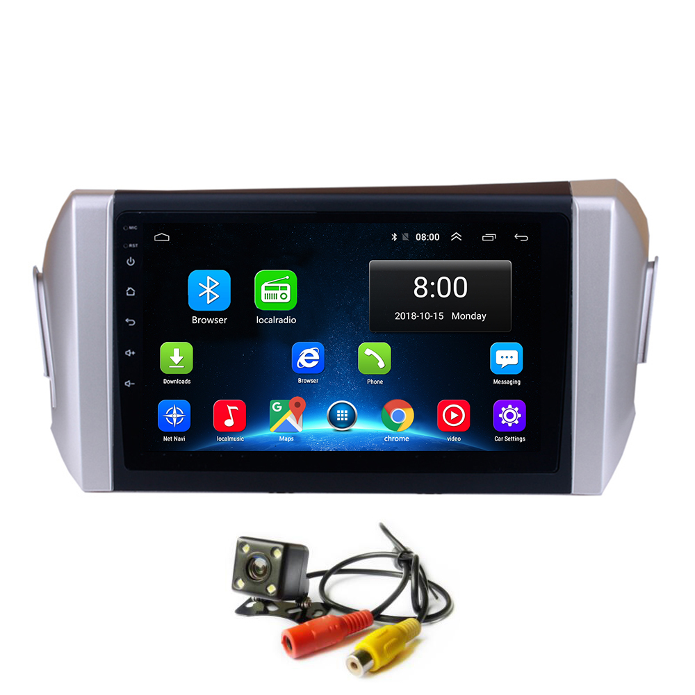 Android 8.1 <font><b>Car</b></font> Radio GPS for <font><b>Toyota</b></font> Innova 2015 Left Hand <font><b>Drive</b></font> Multimedia Player Stereo Head Unit Wifi Touchscreen Navigatin image