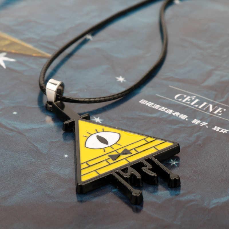 Nouveau Anime drame gravité chutes mystères Bill Cipher patron collier pendentif étrange ville Choker Cosplay bijoux pour femmes hommes