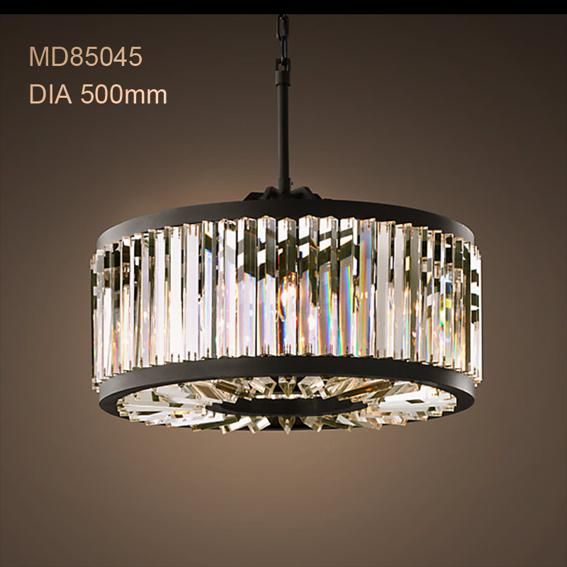 Modern Crystal Chandelier Light Minimalist Creative Hollow Round Chandelier Lamp Fixture Vintage Style for Household Living Room in Chandeliers from Lights Lighting
