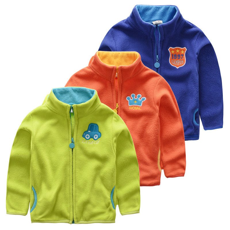 Baby boys polar fleece jacket school kids autumn and winter ...