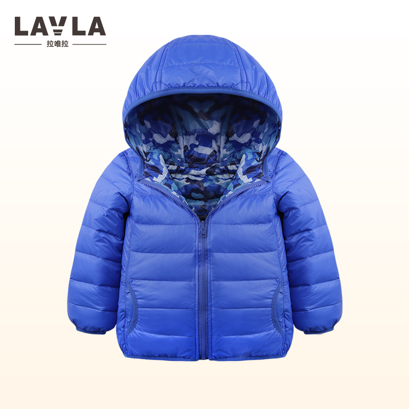 Lavla 1-4Y Baby Girls boys Clothing kids down coat jacket 90% duck down coat Autumn winter warm children clothes hooded pocket 2017 baby boys 90