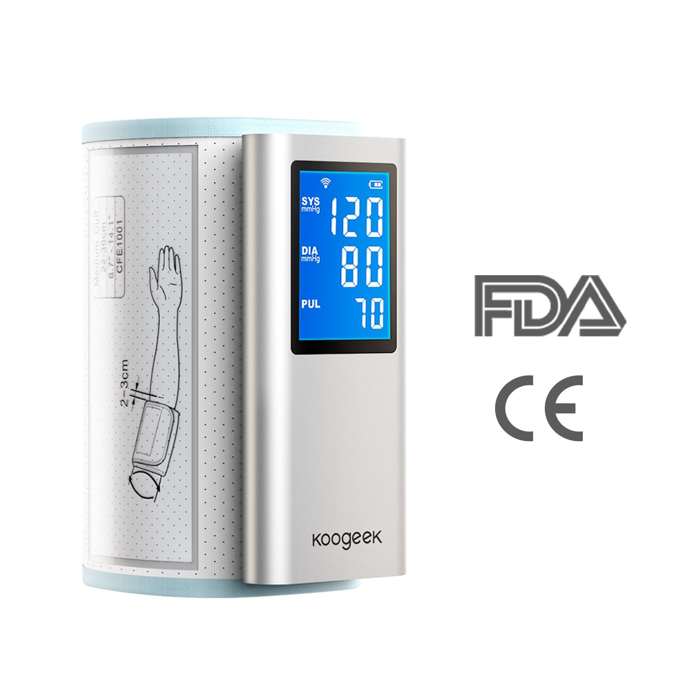 Koogeek Smart Upper Arm Blood Pressure font b Monitor b font FDA Approved Rechargeable Heart Rate