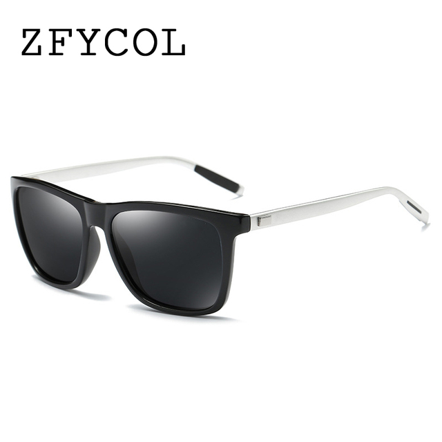 ZFYCOL Mens Sunglasses Brand Designer Retro Aluminum+PC Mirror Polarized Lens Vintage Eyewear Driver Sun Glasses For Men/Women
