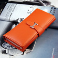 2015New Fashion Women Wallet 8Color HBuckle Hasp High quality Faux leather Wallets Long Ladies Clutch Bag Coin Purse Card Holder