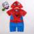 Recém-nascidos Criança Spiderman roupa Do bebé Romper superman Manga Comprida com Blusa Infantil Dos Desenhos Animados do Traje de Natal conjunto