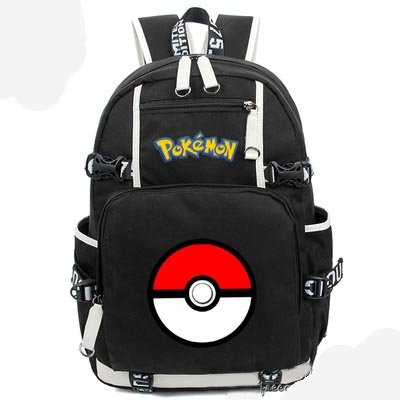 New Game Pokemon Go Backpack Canvas Bag Schoolbag Travel Bags