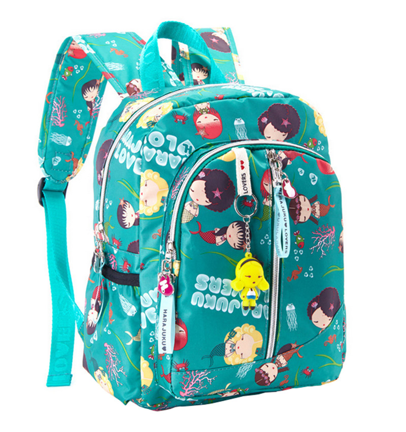 Cartoon smile girls printing Kids school bags Ultralight Toddler Bag Children Backpacks for Kindergarten School Backpack mochila nohoo toddler kids backpack 3d rocket space cartoon pre school bags children school backpacks kindergarten kids bags mochila