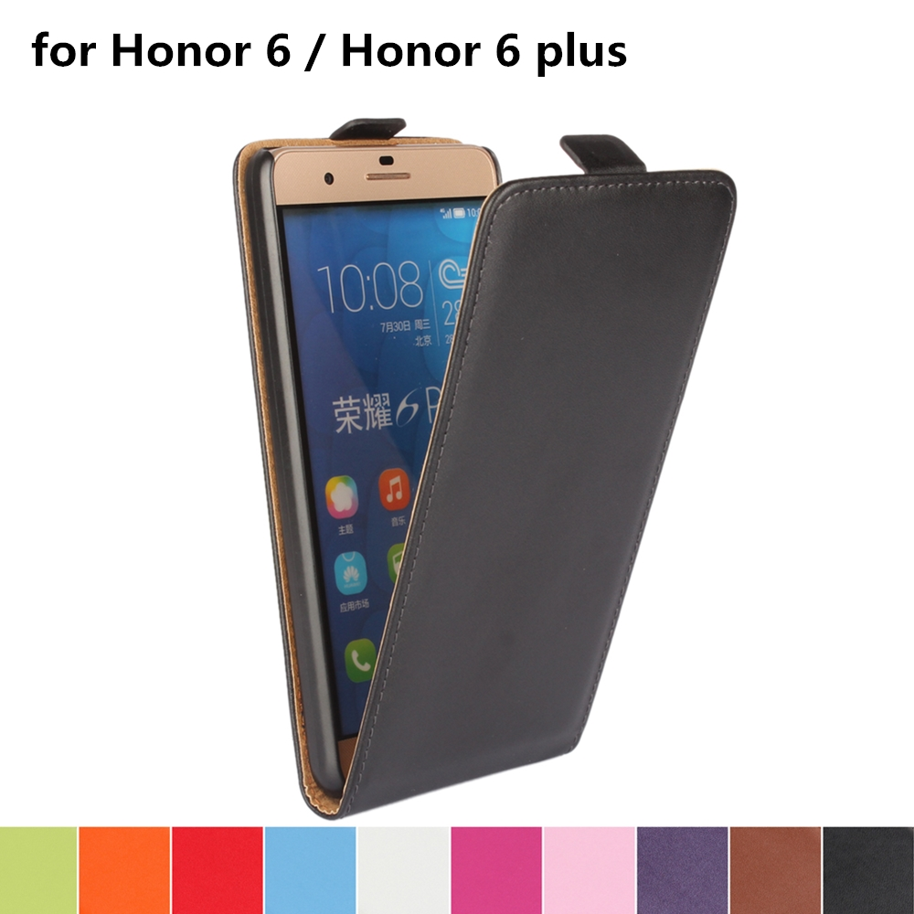 Clamshell telefon fall leder fall für Huawei Honor 6/Honor6 Plus Magnetische adsorption schnalle holster flip coevr fall