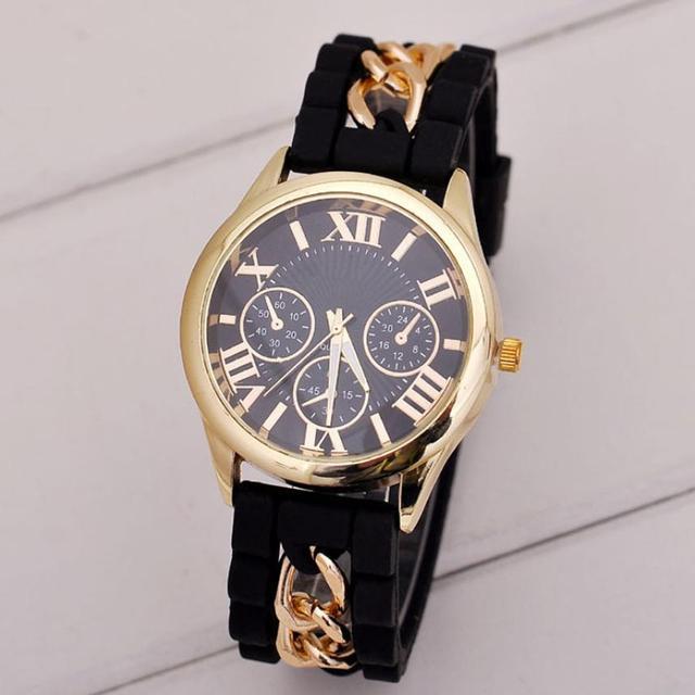 b6737cd8620 Watch Women Luxury Silicone Roman Band Analog Quartz Vogue Wrist Women s  Watches Quartz Watch relogio feminino  D