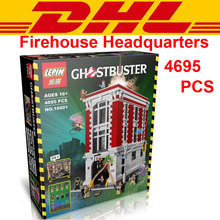 DHL 4695Pcs 16001 Ghostbusters Firehouse Headquarters Building Bricks Blocks Minifigures Toys Compatible With 75827