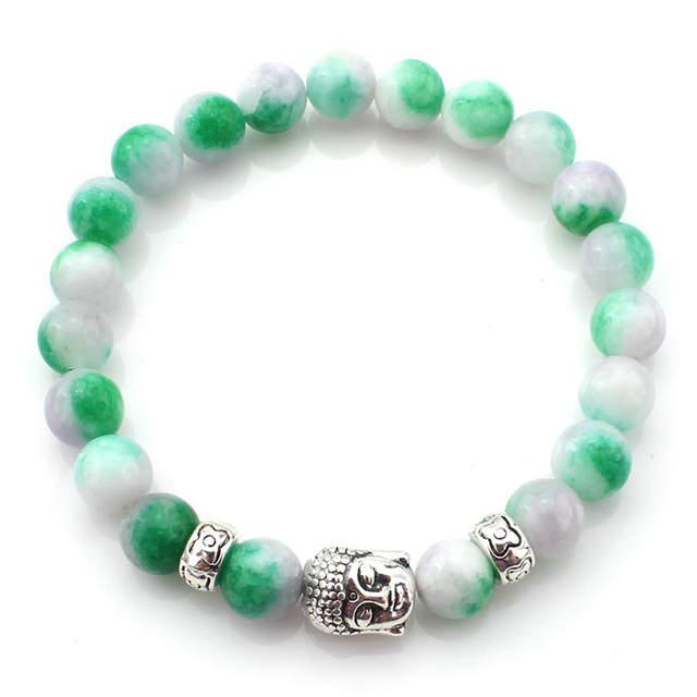 37f926284b7a1 US $1.04 19% OFF|8mm Lava Stone Buddha Bracelet Men Strand Beads Bracelets  For Women Handmade Men Jewelry Charm Cuff Wristband Bileklik Gold-in Charm  ...