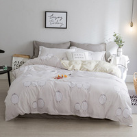 Simple Style Cartoon Bedding Duvet Cover Set Single Twin Queen King Size 1 Quilt Cover 1