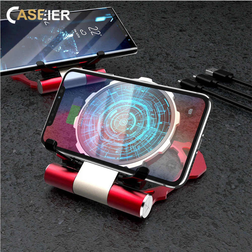 CASEIER 5W Wireless Charger For iPhone XS Max XR Phone Holder 10W Wireless Charger For Samsung S9 Fast Charging USB Charger